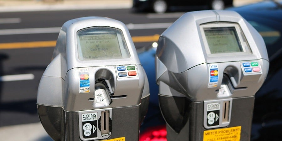 Pictured: The cost of parking meters has risen in the past five years in response to financial regulation and often contain hidden merchant fees.
